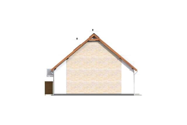 Zobacz powiększenie elewacji bocznej lewej - projekt Fossano