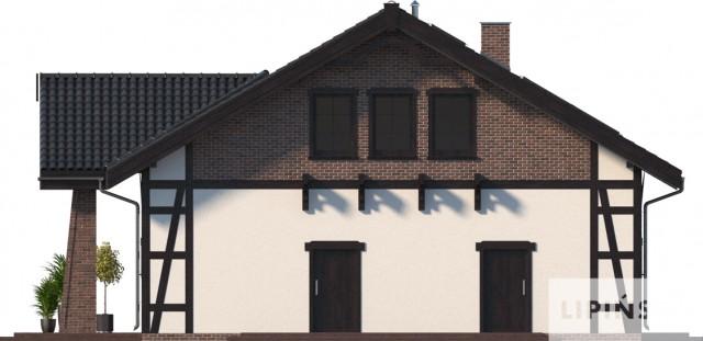 Zobacz powiększenie elewacji bocznej prawej - projekt Budynek usługowy Orzeł II
