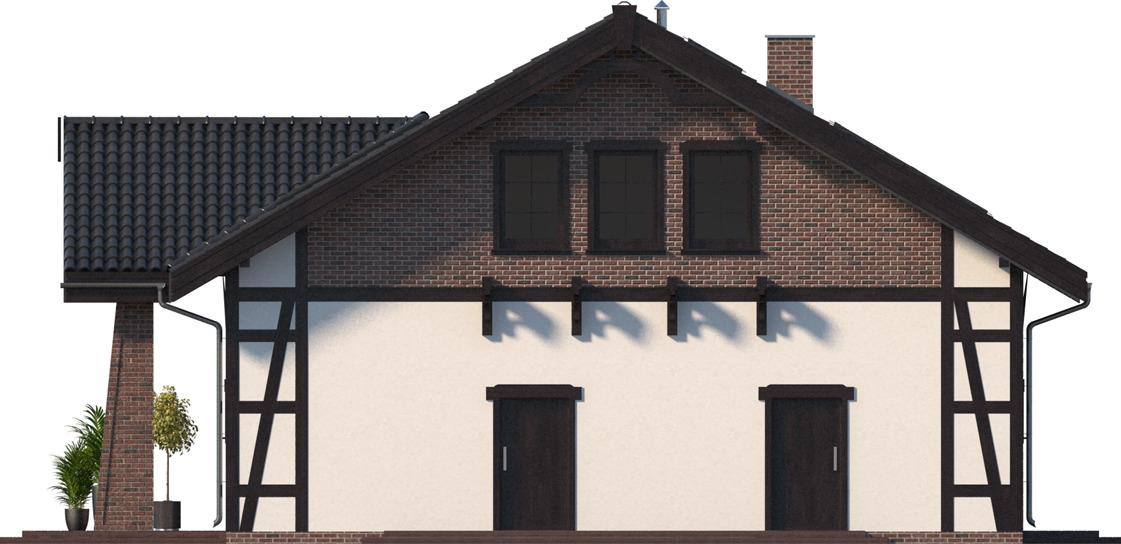 Elewacja boczna prawa - projekt Budynek usługowy Orzeł II