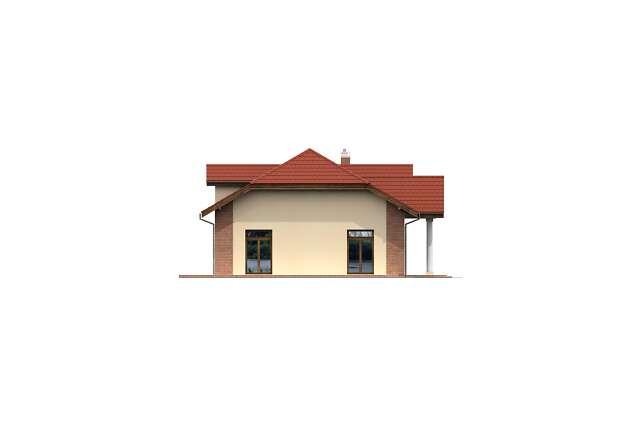 Zobacz powiększenie elewacji bocznej lewej - projekt Budynek usługowy Puchacz