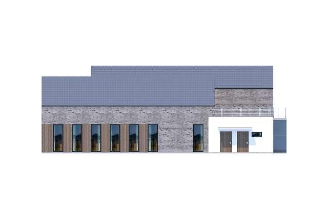 Zobacz powiększenie elewacji bocznej prawej - projekt Budynek usługowy Jastrząb