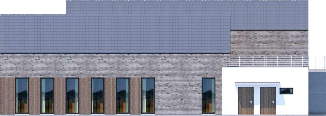 Elewacja boczna prawa - projekt Budynek usługowy Jastrząb