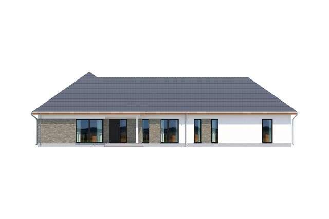 Zobacz powiększenie elewacji frontowej - projekt Budynek usługowy Office 1