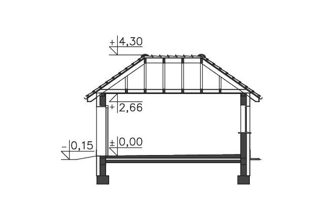Zobacz powiększenie przekroju - projekt Garaż
