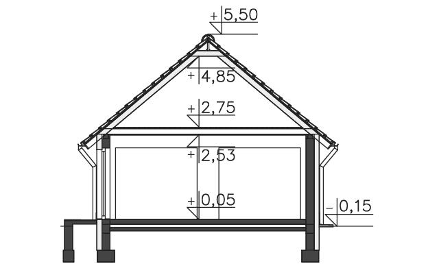 Przekrój - projekt Garaż