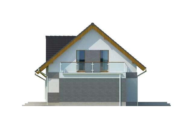 Zobacz powiększenie elewacji bocznej prawej - projekt Lipińscy Dom Pasywny 1