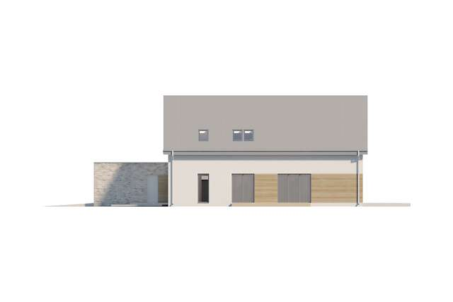 Zobacz powiększenie elewacji frontowej - projekt Sligo Pasywny 9