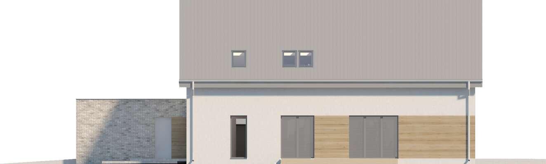 Elewacja frontowa - projekt Sligo Pasywny 9