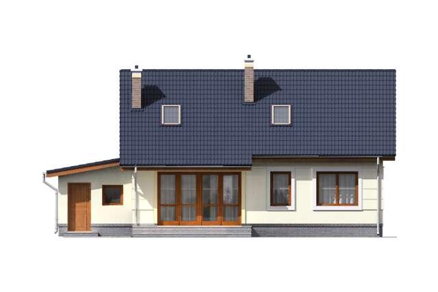 Zobacz powiększenie elewacji ogrodowej - projekt Tuluza VI