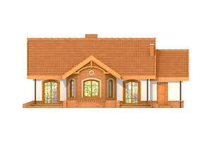 Elewacja ogrodowa - projekt Sofia II