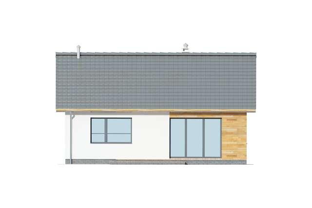 Zobacz powiększenie elewacji ogrodowej - projekt Hobart III