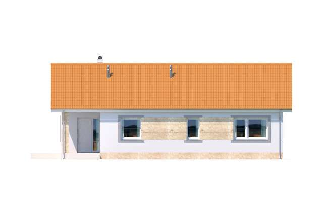 Zobacz powiększenie elewacji frontowej - projekt Lugo