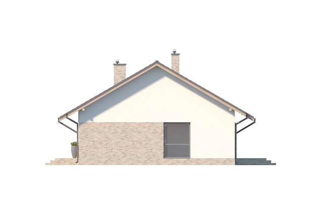 Zobacz powiększenie elewacji bocznej prawej - projekt Arosa