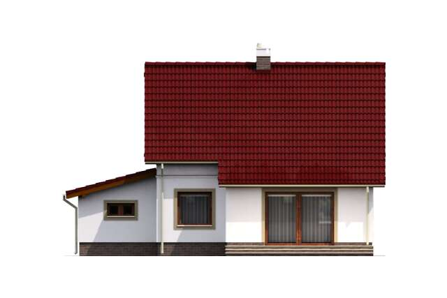 Zobacz powiększenie elewacji ogrodowej - projekt Brema