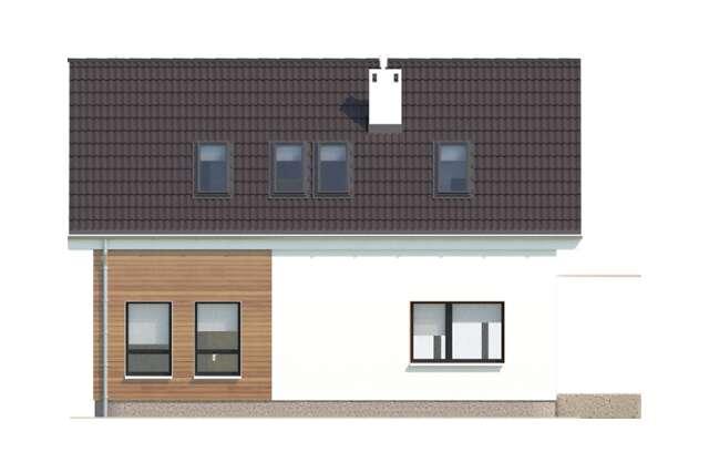 Zobacz powiększenie elewacji ogrodowej - projekt Hawr
