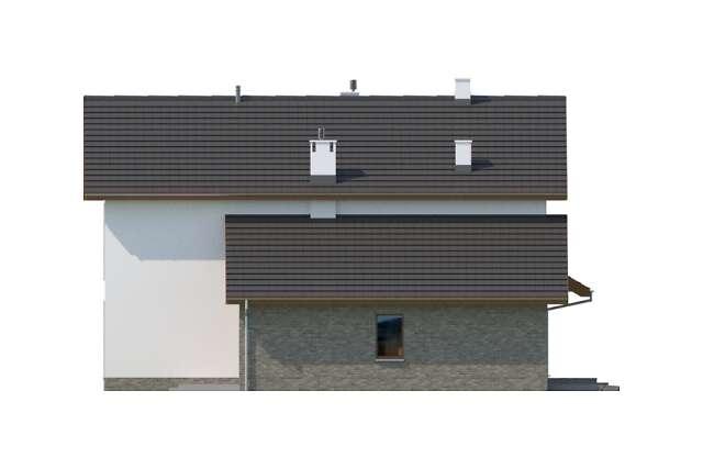 Zobacz powiększenie elewacji bocznej lewej - projekt Perth
