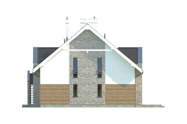 Zobacz powiększenie elewacji bocznej prawej - projekt Budynek agroturystyczny Dąb