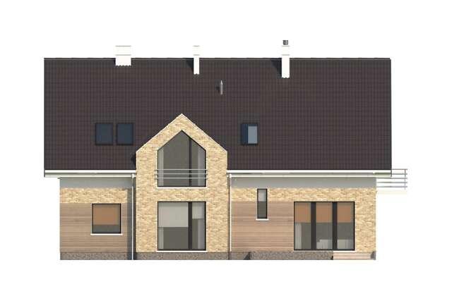 Zobacz powiększenie elewacji ogrodowej - projekt Budynek agroturystyczny Dąb 2