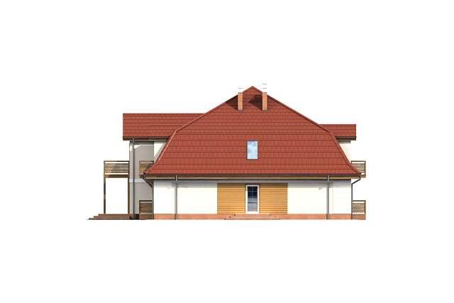 Zobacz powiększenie elewacji bocznej prawej - projekt Budynek wypoczynkowy Ambrowiec