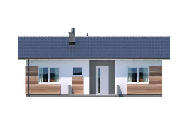Zobacz powiększenie elewacji frontowej - projekt Oban w.drewniana